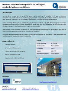 Comuro, Sistema de Compresión de Hidrógeno
