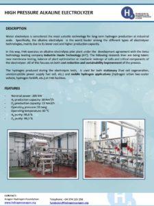 High pressure alkaline electrolyzer