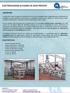 Electrolizador alcalino de alta presión