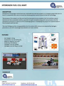 Hydrogen fuel cell kart